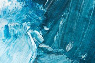 blue smudges