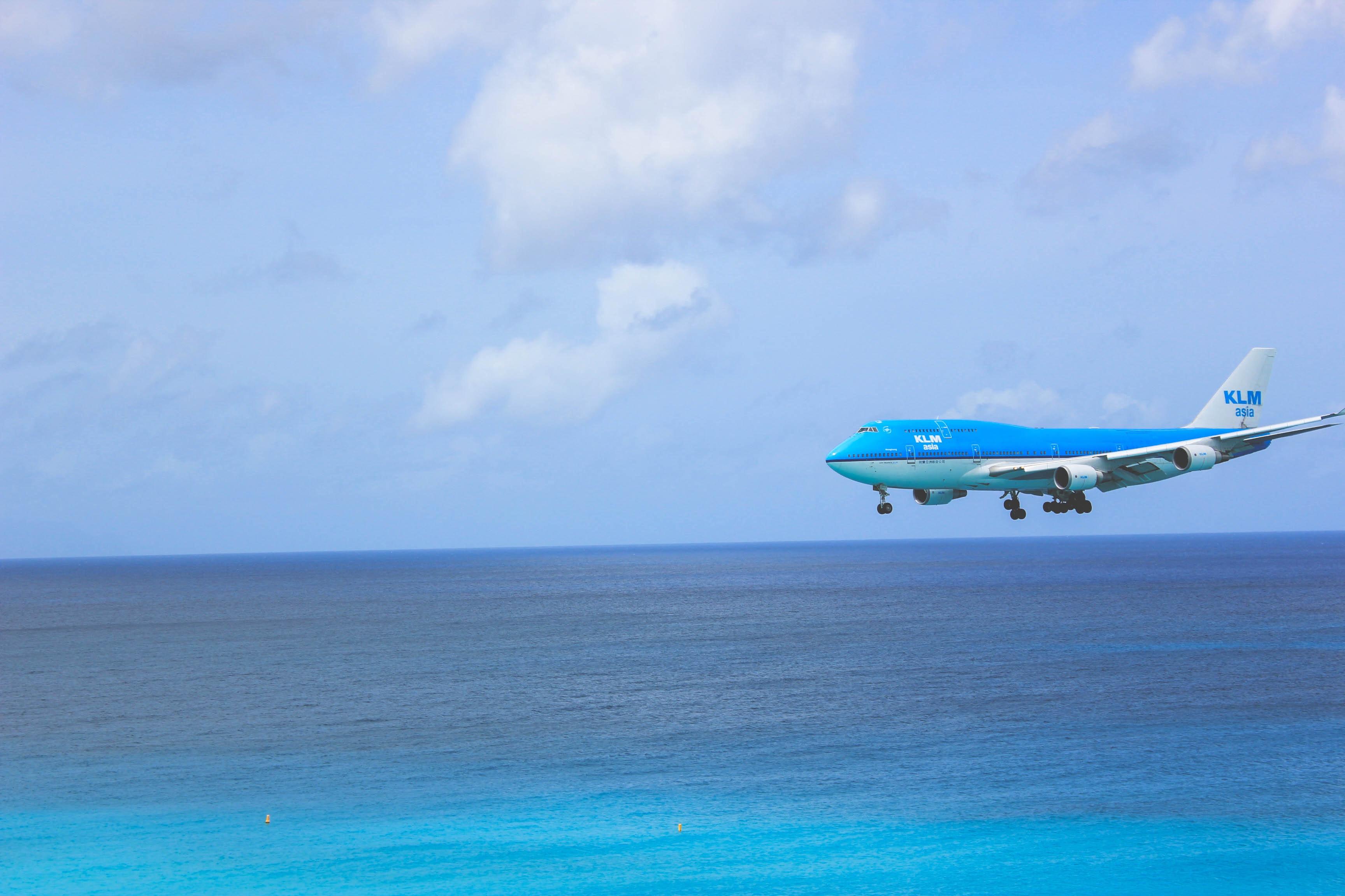 airplane and beach